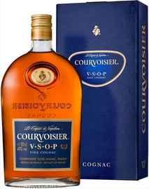 Коньяк французский «Courvoisier VSOP» фляга, в подарочной упаковке