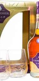 Коньяк французский «Courvoisier VSOP» в подарочной упаковке + 2 стакана