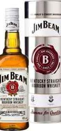 Виски американский «Jim Beam» в металлической подарочной упаковке