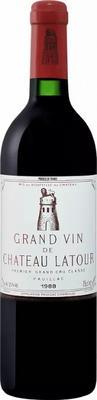 Вино красное сухое «Chateau Latour Premier Grand Cru Classe Pauillac, 0.75 л» 1988 г.