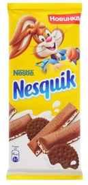 Шоколад «Nesquik с молочной начинкой и какао-печеньем» 100 гр.