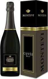 Вино игристое белое брют «Montevi Cuvee Brut» в подарочной упаковке