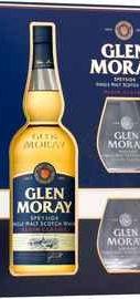 Виски шотландский «Glen Moray Single Malt Elgin Classic» в подарочной упаковке с 2-мя стаканами