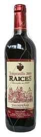 Вино красное сухое «Raices Valdepenas» 2019 г.