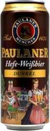 Пиво «Paulaner Dunkel» в жестяной банке