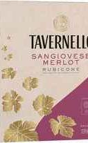 Вино красное полусухое «Tavernello Sangiovese-Merlot Rubicone, 2.25 л» бэг-ин-бокс