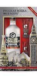 Водка «Русский Стандарт» в подарочной упаковке с 2 рюмками