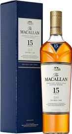 Виски шотландский «Macallan Double Cask 15 Years Old» в подарочной упаковке
