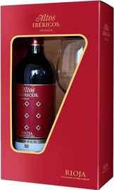 Вино красное сухое «Altos Ibericos Crianza Rioja» 2016 г. в подарочмной упаковке с бокалом
