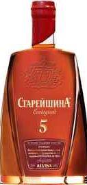 Коньяк российский «Старейшина Пятилетний, 1 л»