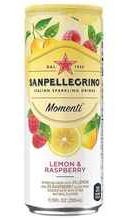 Газированный напиток «Sanpellegrino Momenti Lemon & Raspberry» в жестяной банке