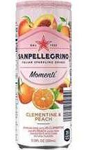 Газированный напиток «Sanpellegrino Momenti Clementine & Peach» в жестяной банке