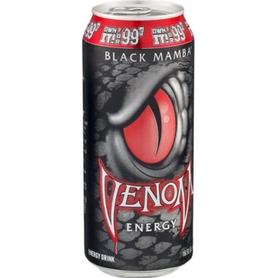 Газированный напиток «Black Mamba» в жестяной банке