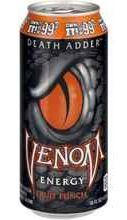 Газированный напиток «Death Adder Fruit Punch» в жестяной банке
