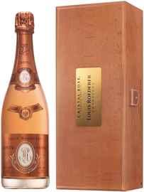 Шампанское розовое брют «Louis Roederer Cristal Rose» 2012 г., в деревянной подарочной упаковке