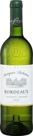 Вино белое сухое «Marquis Delatre Bordeaux» 2018 г.