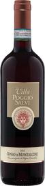 Вино красное сухое «Rosso di Montalcino Villa Poggio Salvi» 2018 г.