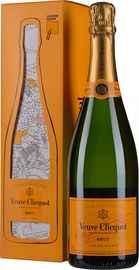 Шампанское белое брют «Veuve Clicquot Brut» в подарочной упаковке (открытка-раскраска)