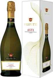 Вино игристое белое сладкое «Filipetti Asti» в подарочной упаковке