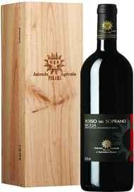 Вино красное сухое «Rosso del Soprano» 2015 г., в деревянной подарочной упаковке
