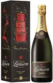 Шампанское белое брют «Lanson Black Label Brut» 2015 г. в подарочной упаковке