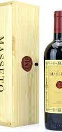 Вино красное сухое «Masseto» 2016 г., в деревянной упаковке