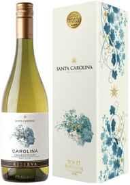 Вино белое сухое «Santa Carolina Reserva Chardonnay Valle de Rapel» в подарочной упаковке