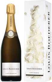 Шампанское белое полусухое «Carte Blanche» 2014 г. в подарочной упаковке