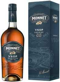 Коньяк французский «Monnet VSOP» 2015 г. в подарочной упаковке