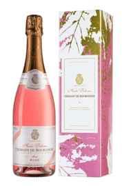 Вино игристое розовое брют «Cremant de Bourgogne Brut Terroir des Fruits Rose Andre Delorme» 2018 г., в подарочной упаковке