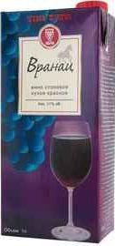 Вино красное сухое «Vino Zupa Vranac (Tetra Pak)»
