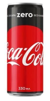 Газированный напиток «Coca-Cola ZERO, 0.33 л»