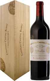 Вино красное сухое «Chateau Cheval Blanc Saint-Emilion Grand Cru» 1996 г., в деревянной упаковке