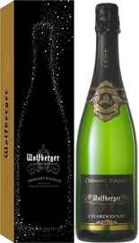 Вино игристое белое брют «Wolfberger Cremant d'Alsace Chardonnay» в подарочной упаковке