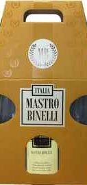 Вино игристое белое полусладкое «Mastro Binelli Premium Moscato» в подарочной упаковке с 2-мя бокалами