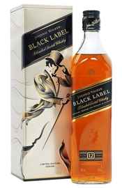 Виски шотландский «Johnnie Walker Black Label» в подарочной упаковке