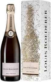 Шампанское белое брют «Louis Roederer Brut Premier grafika» в подарочной упаковке