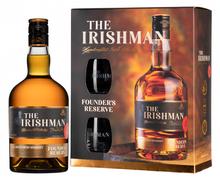 Виски ирландский «The Irishman Founder's Reserve» в подарочной упаковке + 2 стакана