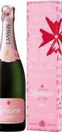 Шампанское розовое брют «Lanson Rose Label Brut Rose» 2015 г. в подарочной упаковке