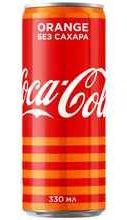 Газированный напиток «Coca-Cola Orange Zero» в жестяной банке