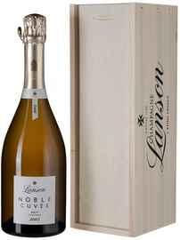 Шампанское белое брют «Noble Cuvee de Lanson Brut» 2002 г., в деревянной подарочной упаковке
