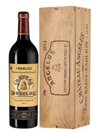 Вино красное сухое «Chateau Angelus Premier Grand Cru Classe» 2014 г., в деревянной подарочной упаковке