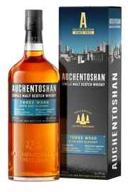 Виски шотландский «Auchentoshan Three Wood» в подарочной упаковке
