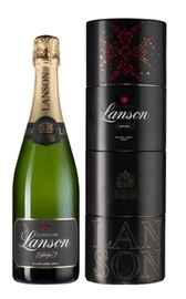 Шампанское белое брют «Lanson Black Label Brut Twist Pack» в тубе