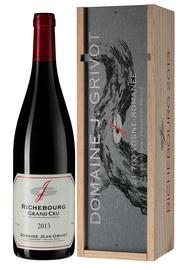 Вино красное сухое «Domaine Jean Grivot Richebourg Grand Cru» 2013 г., в деревянной подарочной упаковке