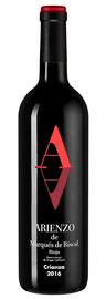 Вино красное сухое «Marques de Arienzo Rioja» 2016 г.