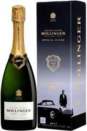 Шампанское белое брют «Bollinger Special Cuvee Brut 007» в подарочной упаковке