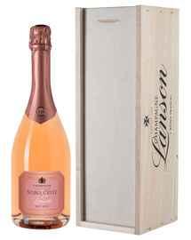 Шампанское розовое брют «Lanson Noble Cuvee Rose» в подарочной упаковке
