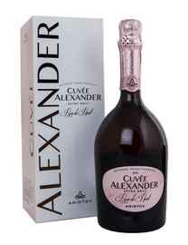 Вино игристое розовое экстра брют «Aristov. Cuvee Alexander Rose de Pinot Extra Brut» в подарочной упаковке