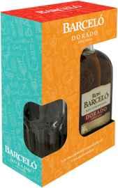 Бренди «Barcelo Dorado» в подарочной упаковке со стаканом